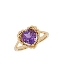 Lord And Taylor Amethyst 14K Yellow Gold Ring Purple