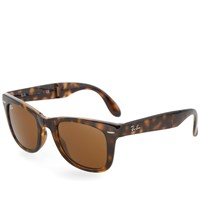 Ray Ban Ray Ban Wayfarer Folding Sunglasses Light Havana And Brown