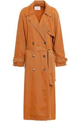 American Vintage Woman Double Breasted Twill Trench Coat Tan