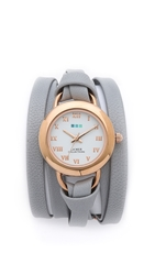 La Mer Round Wrap Watch Cloud Grey
