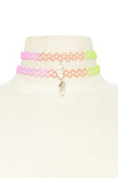 Forever 21 Best Friends Tattoo Choker Set Gold Multi