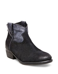 Steve Madden Midnite Suede And Leather Ankle Booties Black