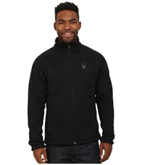 Spyder Foremost Full Zip Heavy Weight Core Sweater Black Black Men's Sweater