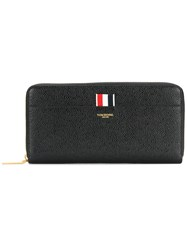 Thom Browne Zipped Wallet Women Leather One Size Black