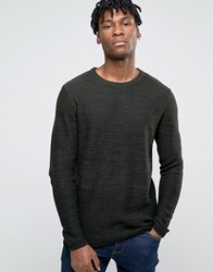 Jack And Jones Crew Neck Knitted Jumper In Yarn Dye Rosin Red
