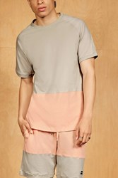 Forever 21 King London Colorblock Tee Grey Pink