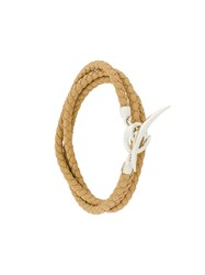Shaun Leane Quill Wrap Bracelet Leather Sterling Silver Nude Neutrals