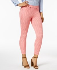 Hue Women's Gingham Denim Skimmer Leggings Tart