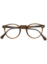Oliver Peoples Gregory Peck Sunglasses Brown