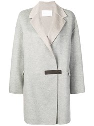 Fabiana Filippi Single Breasted Coat Neutrals