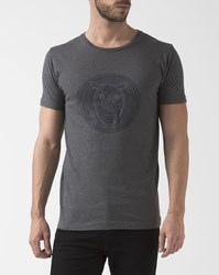 Knowledge Cotton Apparel Grey Crew Neck Owl T Shirt