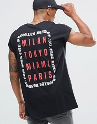 Asos Oversized T Shirt With Gothic Text City Back Print Black