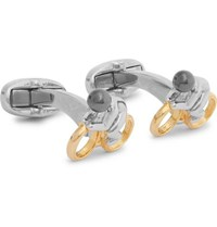 Paul Smith Silver And Gold Tone Cufflinks Silver