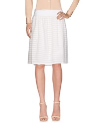 Cappellini By Peserico Knee Length Skirts Ivory