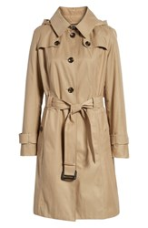London Fog Knee Length Trench Coat Khaki