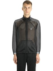 Adidas Originals By Alexander Wang Sheer Mesh Zip Up Track Jacket Black