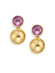 Marco Bicego Jaipur Light Amethyst Citrine And 18K Yellow Gold Double Drop Earrings