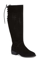 Very Volatile 'Brando' Riding Boot Women Black Suede