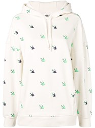 Mcq By Alexander Mcqueen Swallow Hoodie White