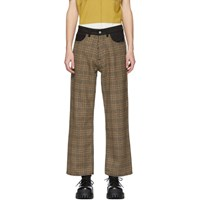 Our Legacy Beige And Brown Highgate Houndstooth Trousers
