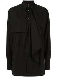 Y's Layered Front Shirt Black