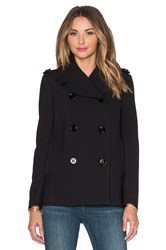 Red Valentino Double Breasted Peacoat Black