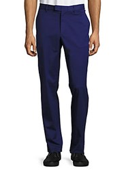 Michael Kors Tailored Fit Cotton Trousers Bright Navy