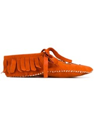 Brother Vellies Embroidered Moccasins Yellow And Orange
