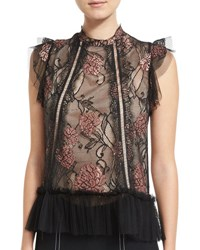 Alexis Devon Rose Sleeveless Top Black