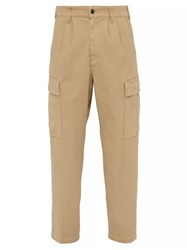 Barena Venezia Rione Cotton Blend Cargo Trousers Beige
