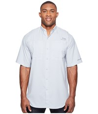 Columbia Tamiami Ii S S Big Cool Grey Men's Short Sleeve Button Up Gray