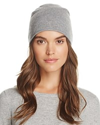 Bloomingdale's C By Angelina Cashmere Slouch Hat 100 Exclusive Gray