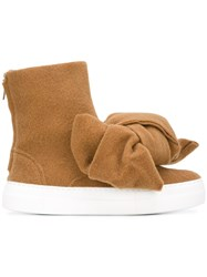 Joshua Sanders Bow Detail Boots Nude And Neutrals