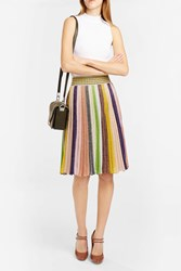 Missoni Women S Pleated Striped Midi Skirt Boutique1 Multi