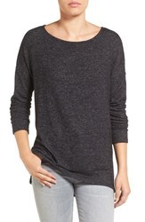 Gibson Women's Ballet Neck High Low Pullover