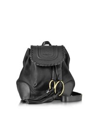 See By Chloe Chlo Polly Black Leather Backpack W Tassels