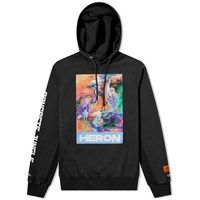 Heron Preston Water Colours Print And Embroidery Popover Hoody Black