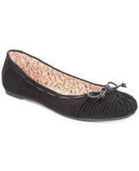 Mojo Moxy Dolce By Akachi Bow Flats Women's Shoes Black