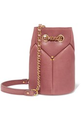 Jerome Dreyfuss Popeye Mini Textured Leather Bucket Bag Antique Rose