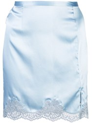 Fleur Du Mal James Lace Slip Skirt Blue