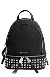 Michael Michael Kors 'Extra Small Rhea Zip' Studded Backpack Black