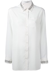 Givenchy Crystal Trim White
