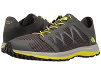 The North Face Litewave Flow Lace Dark Shadow Grey Sulphur Spring Green Men's Shoes Gray