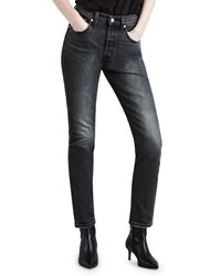 Levi's Premium 501 High Rise Ankle Skinny Jeans Gray