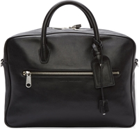 Marc By Marc Jacobs Black Leather Johnny Crossbody Briefcase