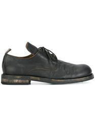 Ann Demeulemeester Washed Effect Lace Up Shoes Black