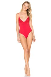 Minkpink Forbidden Fruit Lace One Piece Red