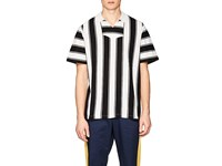 Ovadia And Sons Striped Cotton Baja Polo Shirt Black