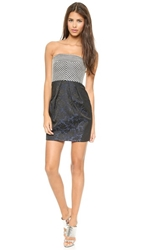 4.Collective Strapless Dress Navy Multi