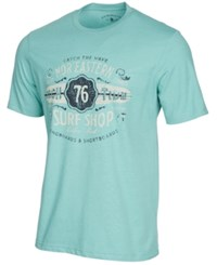 G.H. Bass And Co. Surf Shop Graphic Print T Shirt Med Blue